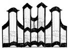 3 pav. XVIII a II p. Vilniaus mokyklos vargonų prospektų tipai: 4. Tytuvėnų (1789 m.) ir Troškūnų (1790 m.) bernardinų, Kurtuvėnų (iki 1793 m.) bažnyčių vargonai