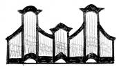 3 pav. XVIII a II p. Vilniaus mokyklos vargonų prospektų tipai: 6. Vilniaus Šv. Jurgio (apie 1760–1770 m.), Visų šventųjų (apie 1770 m.), Jiezno (iki 1782 m.), Joniškio (Molėtų r., apie 1780 m.), Jūžintų (po 1792 m.), Šeduvos (apie 1790 m.), Tverų (XVIII a. pab.), Sedos (1801 m.), Laúi (1798 m.) ir kt. bažnyčių vargonai