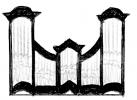 3 pav. XVIII a II p. Vilniaus mokyklos vargonų prospektų tipai: 7. Vilniaus Šv. Mikalojaus (XVIII a. IV ketv.), Semeliškių (1781 m.), Kėdainių (XVIII a. pab.), Pivašiūnų (XVIII a. pab.), Medininkų (XVIII a. IV ketv.), Rozalimo (1796 m.), Notėnų (apie 1790 m.), Skaudvilės (po 1793 m), Joniškėlio (1803 m.), Balbieriškio (1802 m.), Vidsodžio (apie 1807 m.), Gaurės (1808 m.), Kantaučių (1815 m.) ir kt. bažnyčių vargonai