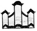3 pav. XVIII a II p. Vilniaus mokyklos vargonų prospektų tipai: 8. Vilniaus Evangelikų liuteronų (1751–1753 m.), Vilniaus Kalvarijos (XVIII a. IV ketv.), Buivydžių (XVIII a. pab.), Geranainių (XVIII a. pab.), Naugarduko parapijinės bažnyčios (XVIII a. pab.), iš dalies Drujos bernardinų bažnyčios vargonai (XVIII a. III ketv.)