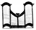 3 pav. XVIII a II p. Vilniaus mokyklos vargonų prospektų tipai: 9. Vilniaus Šv. Jonų bažnyčios Oginskių koplyčios (apie 1770 m.), Pasienės (1765 m.), Pabaisko (XVIII a. pab.), Tabariškių (XVIII a. pab.), Vaiguvos (po 1804 m.), Antazavės (XIX a. pr.) bažnyčių vargonai