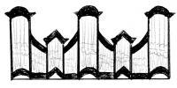 3 pav. XVIII a II p. Vilniaus mokyklos vargonų prospektų tipai: 10. Nevarėnų bažnyčios vargonai (apie 1810–1820 m.)