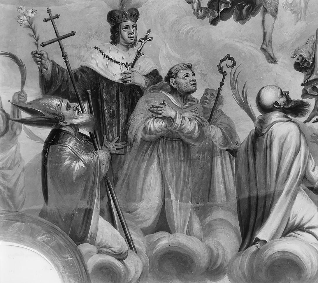 8 il. Šventųjų Adalberto Vaitiekaus, Brunono Kverfurtiečio ir Kazimiero grupė. Šventųjų rato fragmentas. Fot. Jonas Šaparauskas. 1988 m.