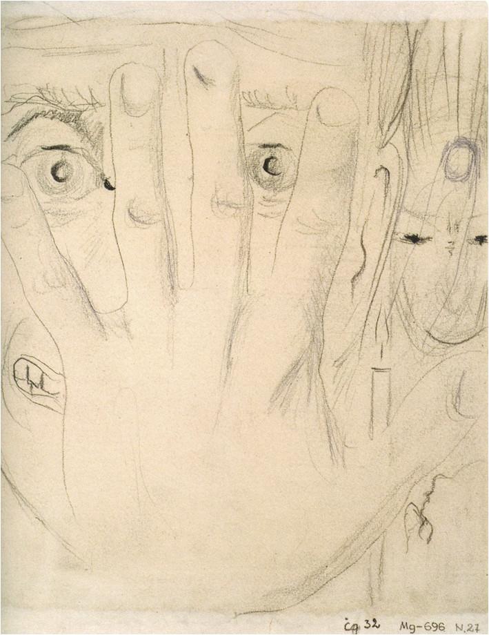 9. M. K. Čiurlionio kompozicijų eskizas (Baimė), 1904/06