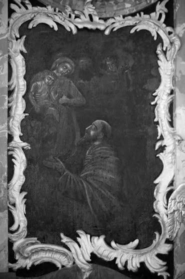 2 il. Šv. Simono Stoko vizija. XVIII a. Vilniaus Visų Šventųjų bažnyčia. Foto: V. Balkūnas, 2012