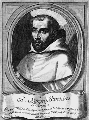 5 il. Šv. Simonas Stokas. XVIII a. Mariano Ventimiglia, Historia Chronologica…, 1773