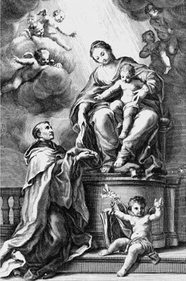 7 il. Sebastiano Conca, Šv. Simono Stoko vizija. 1715 m. Palermo Šv. Teresės bažnyčia