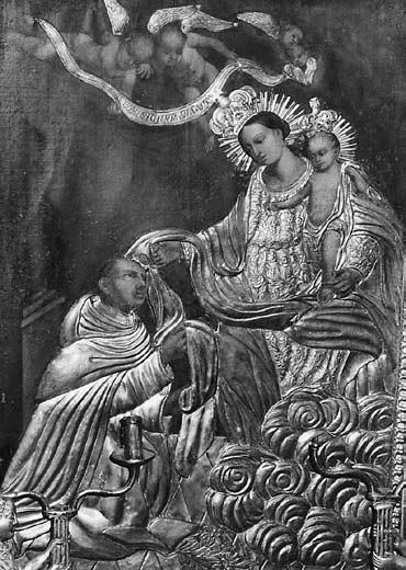 9 il. Šv. Simono Stoko vizija. XVIII a. pab. Riešės šv. Vysk. Stanislovo bažnyčia. Foto: A. Rusteikienė, 2001