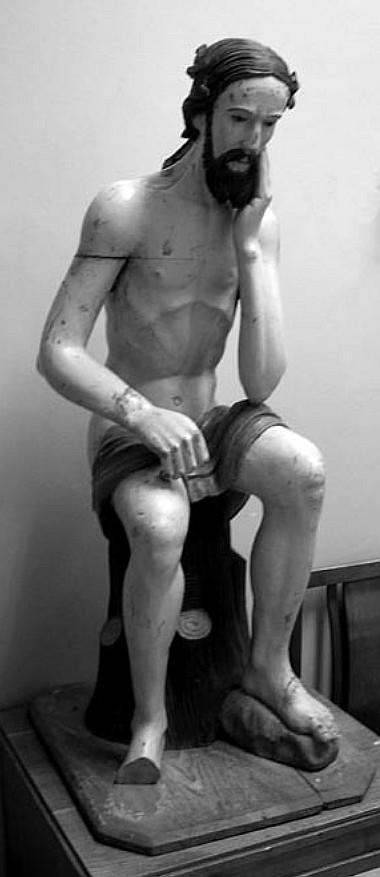 1 pav. Balninkų Rūpintojėlio skulptūra, XVII a. II ketv., medis, polichromija (G. Surdokaitės nuotr., 2007)