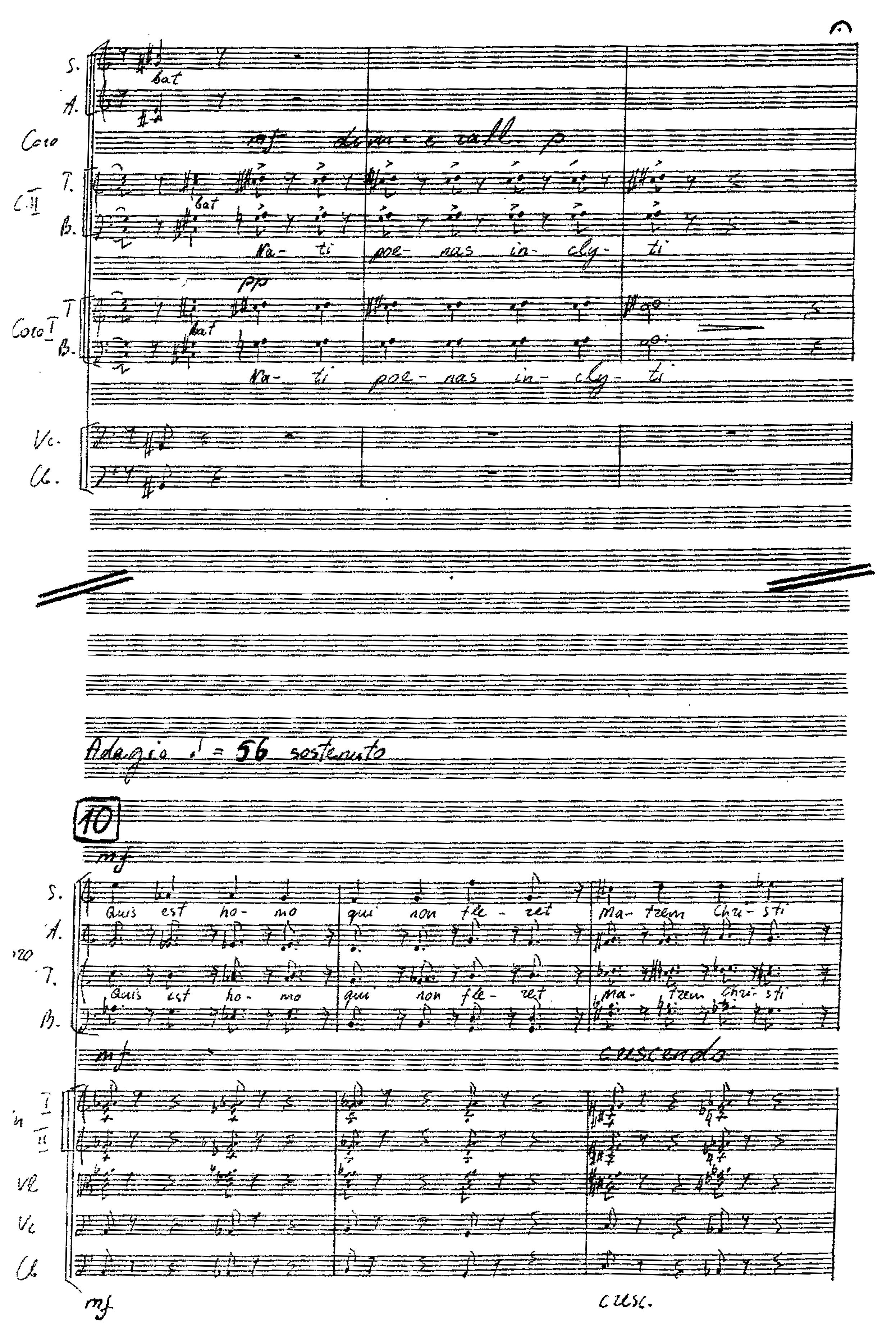 """8 pvz. """"Mater Dolorosa (symphonia tertia)"""""""