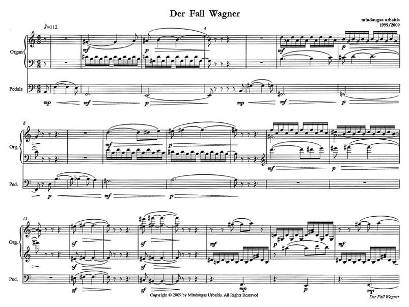 "1 pav. Mindaugas Urbaitis. ""Der Fall Wagner"", 1999"