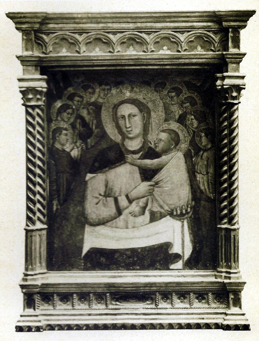 """7 pav. J. di Paolo """"Madona su kūdikiu ir angelais"""". XIV a."""
