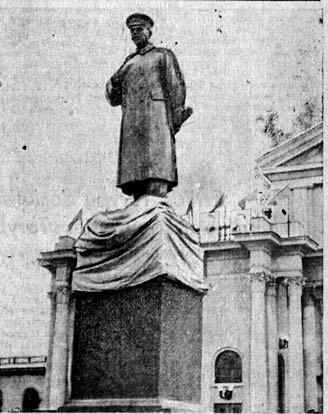 5 pav. Stalino paminklas Vilniuje, skulpt. Nikolajus Tomskis, 1950, bronza