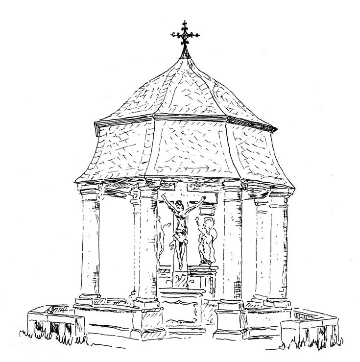 1 pav. Šv. Kryžiaus koplyčia. 1712 m. Merzig
