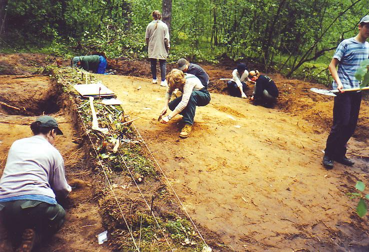 2 pav. Jakšiškio pilkapyno archeologiniai kasinėjimai