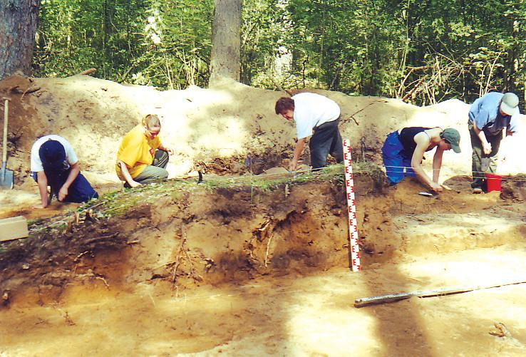 3 pav. Jakšiškio pilkapyno archeologiniai kasinėjimai