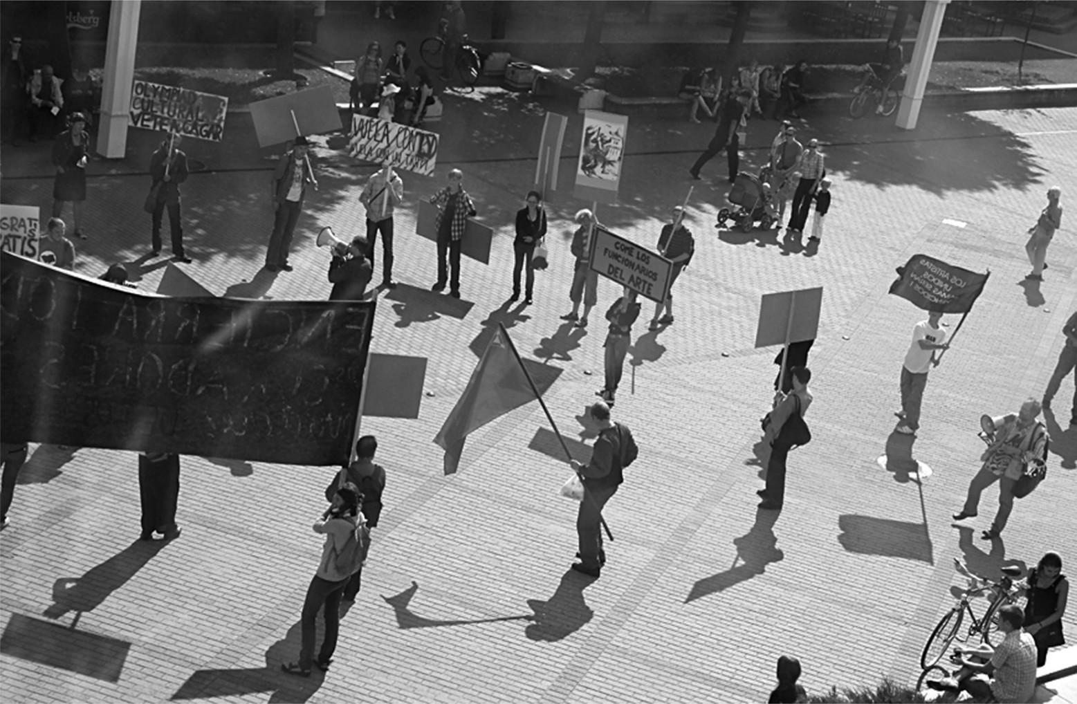 Demonstracija Pasaulinio psichodarbininkų ir duomenkasių kongreso metu, 2009. Alytaus DAMTP nuotr.